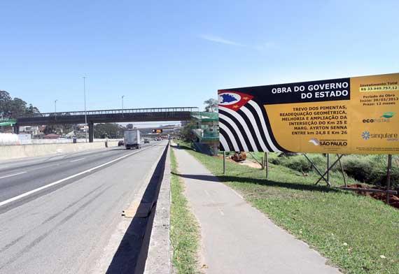 Estado dá início à construção da 5ª faixa da Ayrton Senna