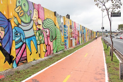 Grafites tomam conta da Radial Leste