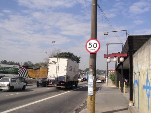 Aricanduva e Jacu-Pêssego têm limites de velocidade reduzidos