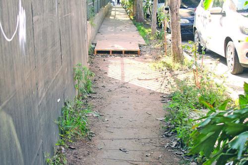 Acessibilidade:  ou melhor, a falta de  condições para caminhar