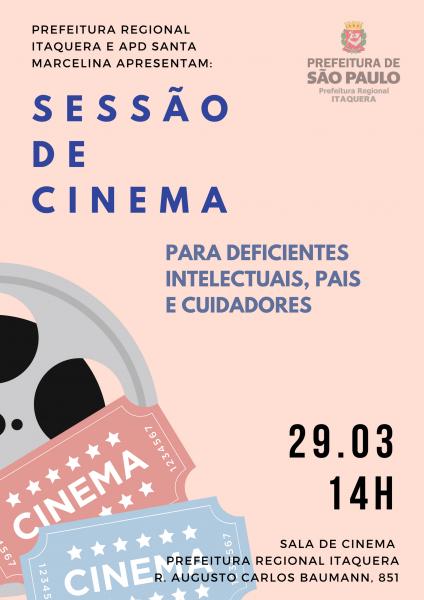 Prefeitura Regional de Itaquera abre sessão de cinema para deficientes intelectuais
