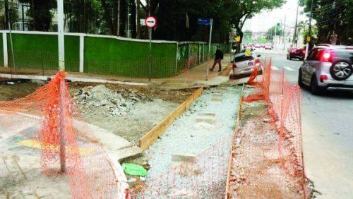 Sarjetão da Rua Itapura – Regional disse que vai retomar